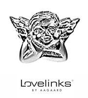 Genuine Lovelinks sterling silver 925 winged cherub bracelet charm bead