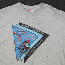 Vtg Black Summit Skiing T-Shirt XL 90s Salt Lake City UT Soft Thin Distressed