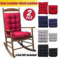 2PCS Chair Pad Mat Rocking Chair Recliner Seat Back Cushion Office Sofa Home AU