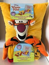Disney Winnie The Pooh Character Pillow & Throw 2 Piece Set New