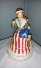 Vintage Schmid Music Box Betsy Ross Sewing American Flag Works Good -