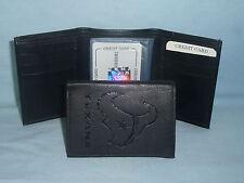 HOUSTON TEXANS    Leather TriFold Wallet    NEW    black 3