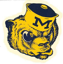University of  Michigan WOLVERINES  Vintage 1950's Looking  Travel Decal Sticker
