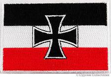 GERMAN IRON CROSS BIKER VEST PATCH MOTORCYCLE JACK FLAG embroidered applique NEW