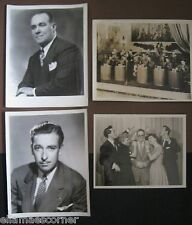 Lot of Three 1940s Big Band Promotional Pictures with one TV Show Picture