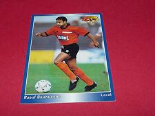 RAOUF BOUZAIENNE STADE LAVALLOIS LAVAL LE BASSER  PANINI FOOTBALL CARD 1994-1995