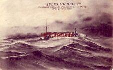 """1914 """"Jules Michelet"""" Croiseur Cuirasse Francais De 1st Rang. (Par grosse mer)"""