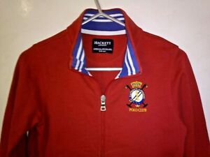 HACKETT LONDON BOYS RED FULL ZIP JACKET COTTON 5-6 YRS AUTHENTIC EXCELLENT