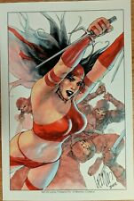 LEINIL FRANCIS YU ELEKTRA THE HAND ART PRINT SIGNED POSTER DAREDEVIL SDCC MARVEL
