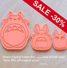 3 Pcs. Totoro Cookie Cutter Set - 3d printed plastic