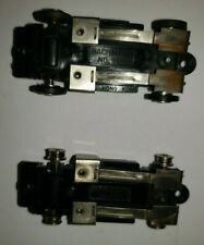 Lot of 2 Vintage Bachmann H.O. Slot Car Groove Buster Chassis for Parts Repair