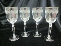 "Fostoria Claret Wine Glasses ""Holly"" Set of 4 EUC"