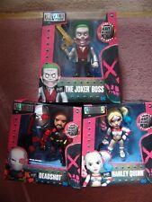 """Suicidio escuadrón 6"""" Jada 3 Figuras De Harley Quinn-El Guasón jefe y Deadshot"""