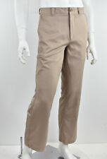 UNDER ARMOUR UA Khaki Tan Woven Flat Front Zip Cargo Pocket Golf Pant 32 x 30