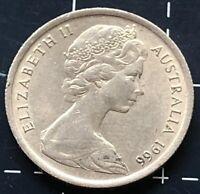 1966 AUSTRALIAN 5 CENT COIN - EF