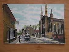 VINTAGE POSTCARD - CHRISTCHURCH ROAD AND CHURCH - RINGWOOD - HAMPSHIRE