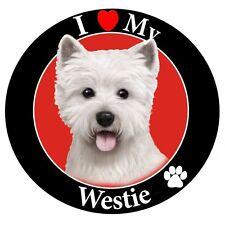 Pet Car Magnet, I Love My Westie