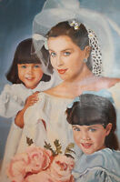 Vintage oil painting portrait