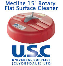 "Mecline 15"" rotatif surface plate Cleaner être WHIRLAWAY Nettoyeur haute pression Pistolet Patio"