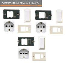 SCHUKO A5440/16 SUPPORTO PLACCA COPRIFORO COMPATIBILE MAGIC BTICINO 3PZ CAD