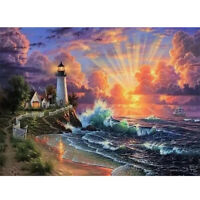 5D Diamond Painting Lighthouse Embroidery Cross Stitch Kits Art Home Decor Gift