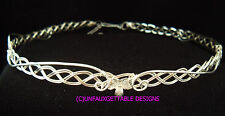 DELICATE LEAVES FANTASY CELTIC CIRCLET SILVER PLATED METAL ALTERNATIVE TO TIARA