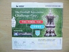 Ticket- FA CUP FINAL 1996- LIVERPOOL v MANCHESTER UNITED