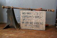 Vintage turned wood sign bracket pole Primitive for 2 sided wood trade sign etc