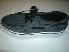 Vans Off the Wall Shoes Zapato Del Barco Chelsea Plaid Black/Pewter Girl 5.5/B 4