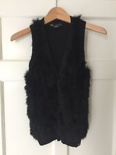 New beautifully soft fur Gilet/waistcoat. Armani Exchange. XS. Black