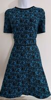 Womens Warehouse Dress size 12 fit&flare blue black work party office business