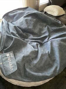 LoveSac SuperSac Cover Only - Soft Corded Blue - Great Condition