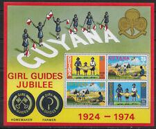 GUYANA , 1974 , GIRL GUIDES JUBILEE , SOUVENIR SHEET  PERF . MNH