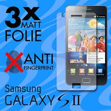 3x MATTE Displayschutzfolie für Samsung Galaxy S2 Schutzfolie Display Folie
