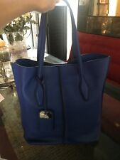 New Tod's Joy Shopper.  Cobalt Blue Leather Tote.