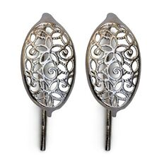 Filigree Sterling Silver Earrings 43551 (1 pair) Earwires French Hook