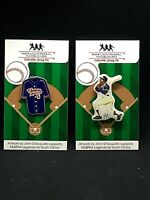 Atlanta Braves & Indianapolis Clowns Hank Aaron jersey lapel pins-2-Collectibles