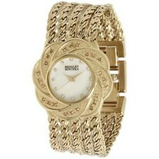 BADGLEY MISHKA MOP DIAL GOLD-TONE ST.STEEL LADIES WATCH BA-1138 PRE-OWNED