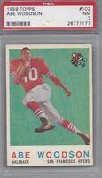 1959 Topps Football Card #102 Abe Woodson, San Francisco 49ers PSA 7 high end