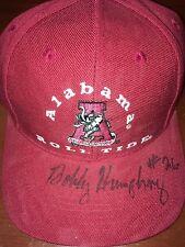 Bobby Humphrey Signed Bama Hat Alabama Legend Autographed AU AUTO SIG by Russell