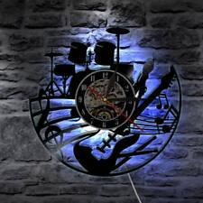 LED Record Wall Clock Modern Design Music Clocks Vinyl CD Wall Watch Home Decor
