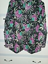 Blair Multi Floral Reversible Quilted Jacket Size Large,100% Cotton, India