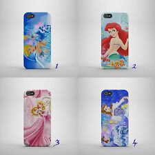 DISNEY PRINCESS/BELLE/ARIEL/AURO HARD PHONE CASE COVER FOR IPHONE/SAMSUNG/HUAWEI