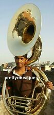 """SOUSAPHONE BIG 25""""BELL OF PURE BRASS IN GOLD POLISH + CASE+ MOUTHPC+FREE SHIPING"""
