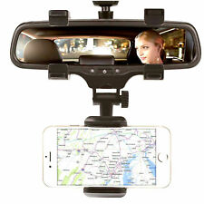 Universal Car Rear view Mirror Mount Stand Phone Holder Cradle For Cell Phone