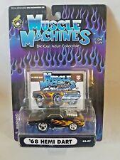 MUSCLE MACHINES 1968 68 DODGE HEMI DART Black w/Flames 1:64 02-97
