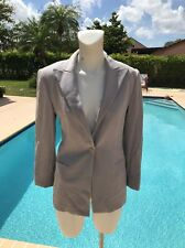 GIORGIO ARMANI BLACK LABEL GRAY 1 BUTTON FRONT WOOL JACKET Sz 42 MADE IN ITALY