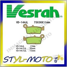 VD-144/2JL PASTIGLIE FRENI POSTERIORI SINTERIZZATE VESRAH GAS GAS EC 125 2008