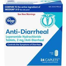 Kroger Anti-Diarrheal Loperamide 2mg 24 Caplets Exp 09/21