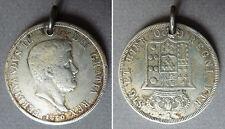 Médaille pièce de monnaie Naples Sicile 1840 argent massif silver medal Ferdinan